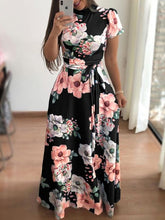 Fashion and Leisure Printing with Long Skirt and Dress Short Sleeve and Long Sleeve Style for Women's Dresses