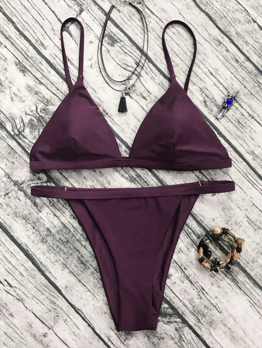 Hot sell seaside beach pink waist half pack buttock swimsuit sexy two-piece suit bikini