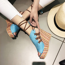 Fashion Hot-selling Slope-heel Button Fishmouth Sandals Leisure Women's Sandals