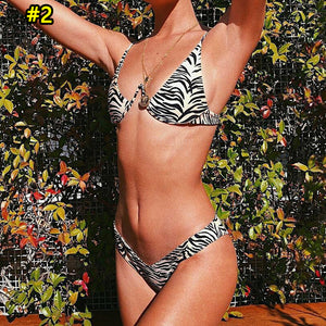 Fashion hot selling sexy beach leopard print bikini one-piece swimsuit #2