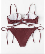 Fashion hot selling steel towing a swimsuit sexy two-piece bikini