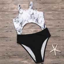 Fashion hot selling snake skin printing conjoined triangle high-waisted swimsuit