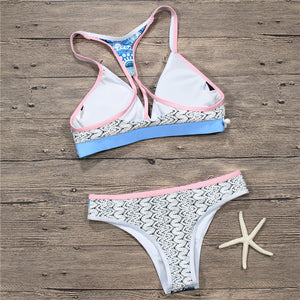 Fashion hot sale lace patchwork swimsuit sexy two-piece bikini