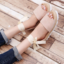Hot-selling fashionable large-size foot-ring straps, flat heel, thick sole hemp rope, breathable sandals Light purple