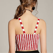 Summer Popular Women Sexy Pure Color Stripe Crop Top Vest Black