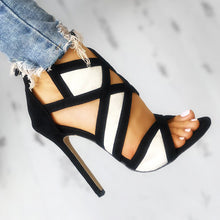 Fashionable super high heel slim-heeled open-toed sandals for women