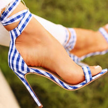 Fashion Ladies'Sandals Sexy Fish-Mouth Lattice Cross-Strap Fine Super High-heeled Shoes