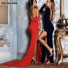 Fashionable Sexy Women's Dresses with Open Backs, Long Sleeves and Ground Dresses