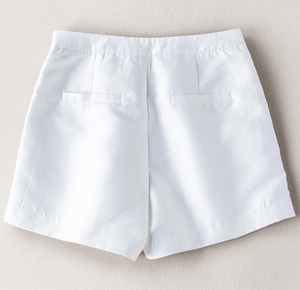 Summer section wide-legged thin waist high waist shorts female summer simple wild casual pants