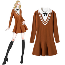 New autumn and winter women's square bow knot fake two large swing knit dress