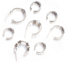 Hot style European and American fashion popular c-shaped exaggerated retro fashion 8 pieces of ear nail.