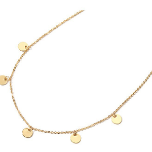 Taffy Korean plate round piece simple personality neck chain girl short style collar bone necklace with neckline accessories and accessories necklace.