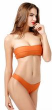 Hot sell fashionable pure color eraser swimsuit sexy two-piece suit bikini