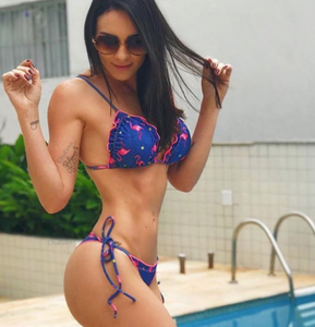 Fashion hot sells animal prints with a swimsuit sexy two-piece bikini