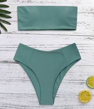 Fashion hot sell pure color and simple swimsuit sexy two-piece bikini