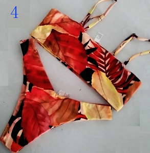 Fashion hot sell double - sided printed triangle-cut swimsuit sexy two-piece bikini