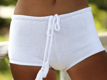 Fashion trend exclusive hot style knit beach shorts ladies' hot pants
