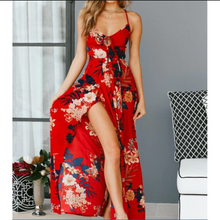 Selling Fashion Female Printed Suspended Dresses