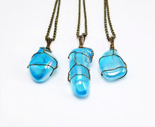 Blue Angel Aura Quartz Crystal Necklace Pendant