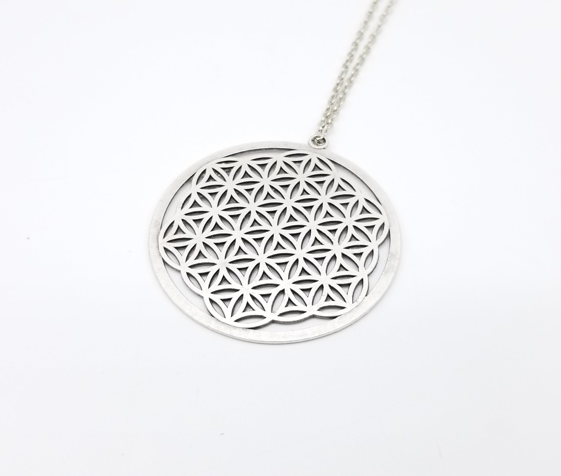Large Flower of Life  Pendant Silver