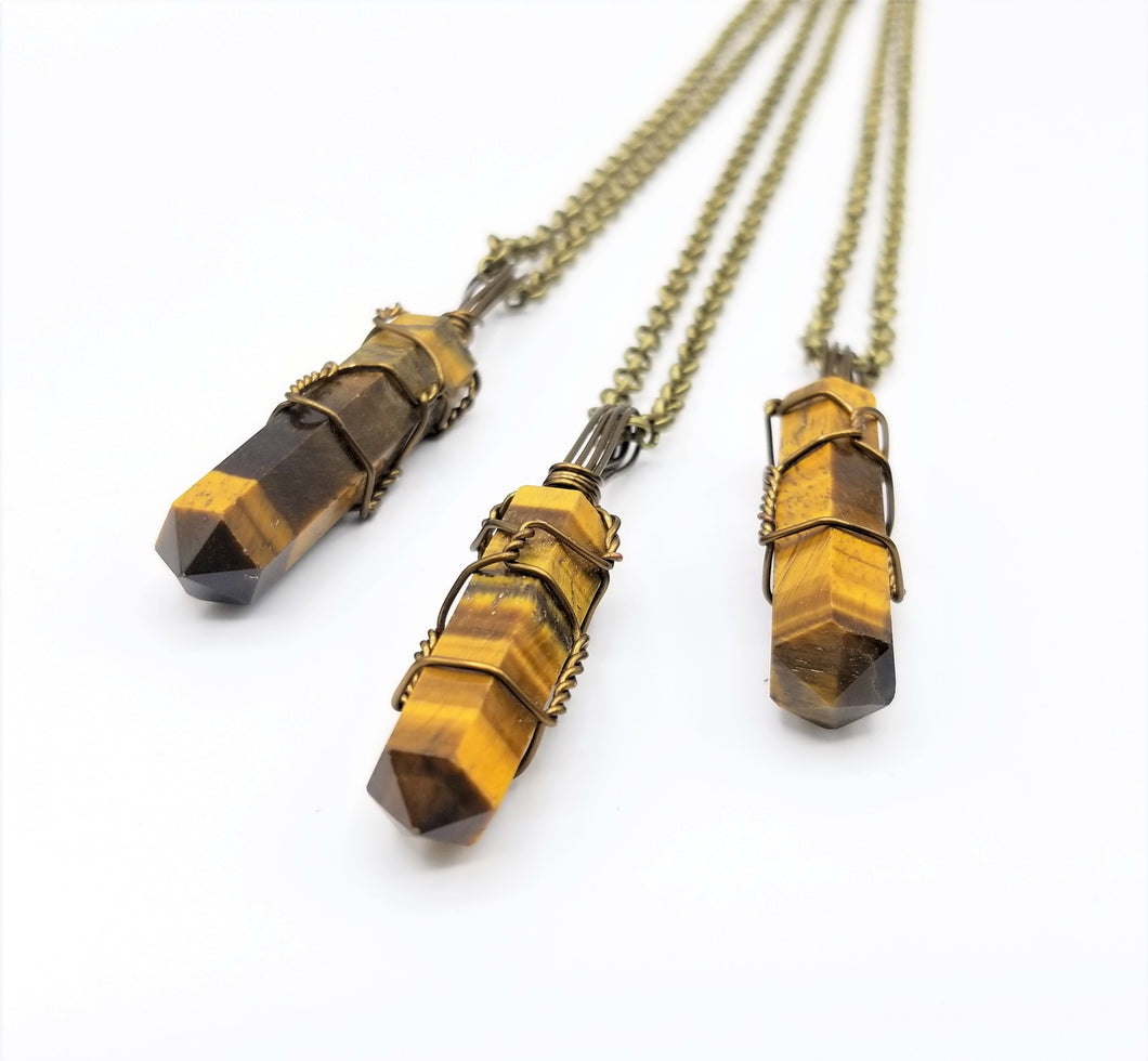 Tigers Eye Necklace Pendant