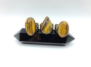 Tigers Eye Adjustable Ring