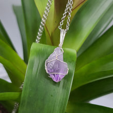 Amethyst Crystal Necklace Silver