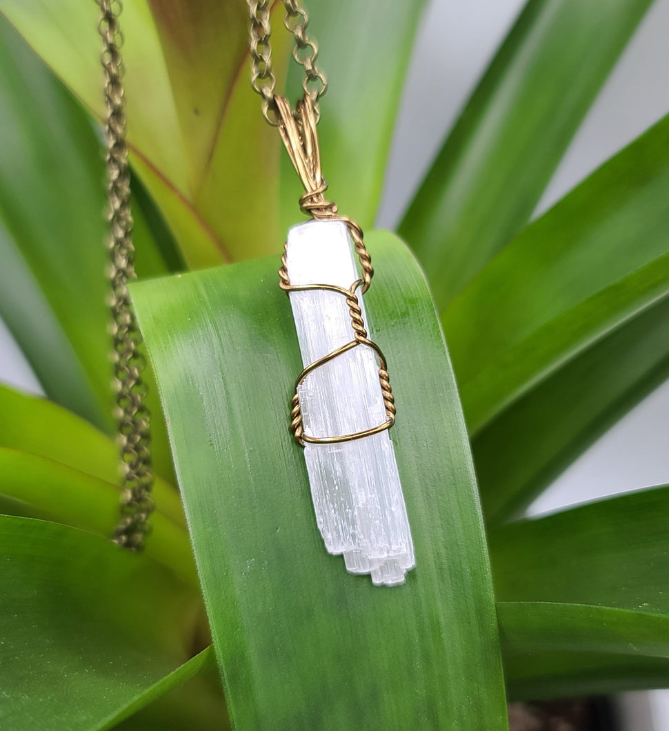 Selenite Necklace Pendant