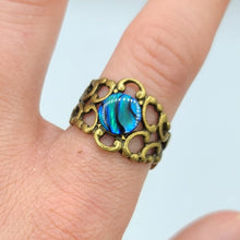 Abalone Adjustable Ring