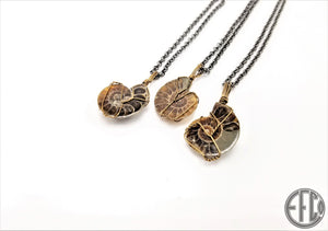 Ammonite Crystal Necklace Pendant