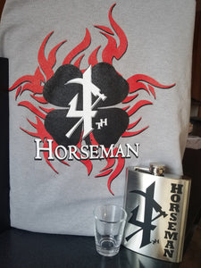 Gray Short Sleeve 4th Horseman Clover & Flask