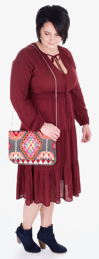 Adventures in Styling - The Boho Wine Dress