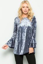 Velvet Bell Sleeve top - Adventurista Boutique