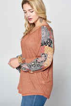 Contrast Sleeve Top - Adventurista Boutique