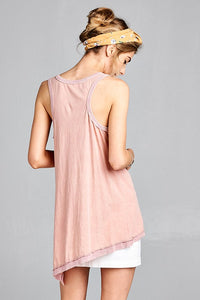 Pink Sleeveless Tunic - Adventurista Boutique