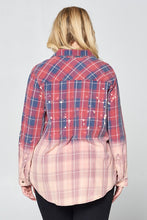 Distressed Plaid Button Down - Adventurista Boutique