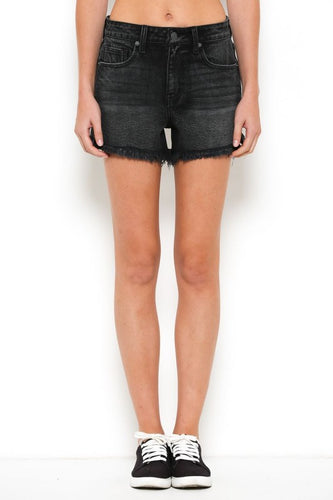 Black High Rise Frayed Cutoffs - Adventurista Boutique