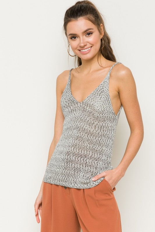 Delightful Textured Cami Sweater - Adventurista Boutique