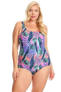 Palm Leaf One Piece - Adventurista Boutique