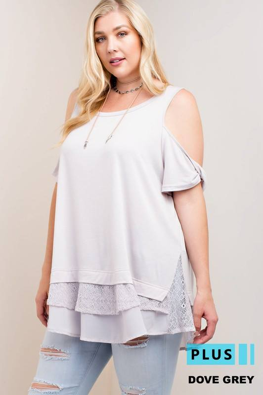 Dove Grey Cold Shoulder - Adventurista Boutique