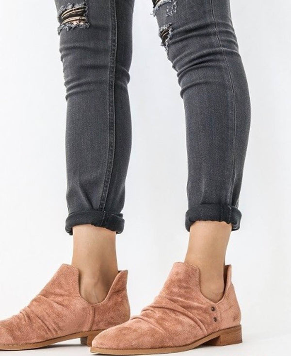Rose Suede Booties - Adventurista Boutique