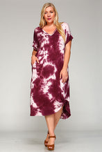 Tie-Dye Dress In Maroon - Adventurista Boutique