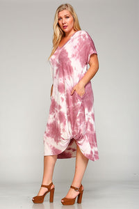 Pink Tie-Dye Dress - Adventurista Boutique