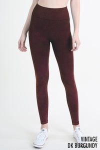 Vintage Dark Burgundy Leggings - Adventurista Boutique