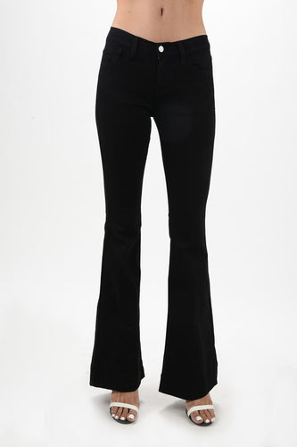Black Flare Stretchy Denim - Adventurista Boutique