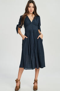 Navy Midi Dress - Adventurista Boutique