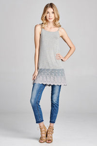 Grey Lace Extender - Adventurista Boutique