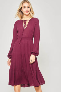 Wine Boho Dress - Adventurista Boutique