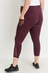 Highwaist Splice Mesh Pocket Full Leggings - Adventurista Boutique