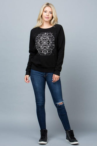 Celestial Zodiac Fleece Lined Sweatshirt - Adventurista Boutique